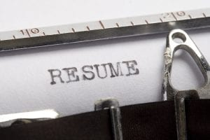 Resume typewriter